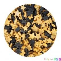 סוכריות כוכבים שחור וזהב