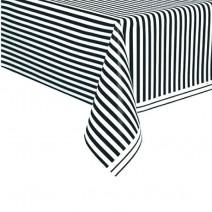 מפת שולחן שחור פסים