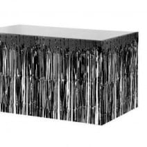 חצאית שולחן פרנזים שחור