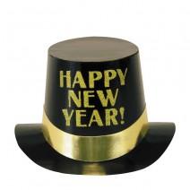 כובע New Year שחור זהב