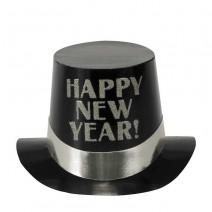 כובע New Year שחור כסף