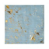 מפיות קוקטייל תכלת זהב