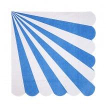מפיות גדולות מניפה כחול ולבן
