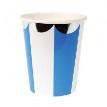 כוסות נייר כחול ולבן