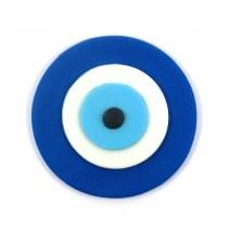 קישוט מבצק סוכר עין כחולה