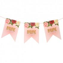 שרשרת דגלים פרחונית Bride to Be