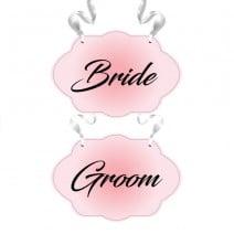 שלטים Bride ו-Groom