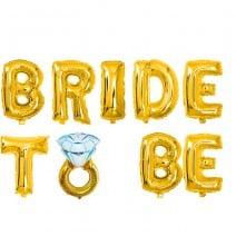 בלוני מיילר Bride to Be טבעת זהב