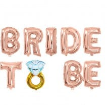 בלוני מיילר Bride to Be טבעת רוז גולד