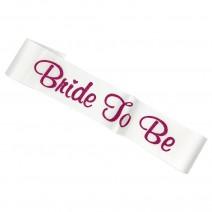 סרט Bride to Be לבן פוקסיה גליטר