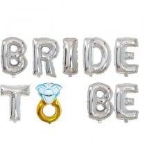 בלוני מיילר Bride to Be טבעת כסף