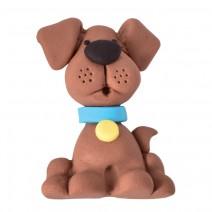 קישוט מבצק סוכר כלב חום