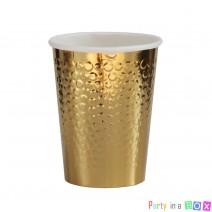 כוסות נייר בועות זהב מטאלי