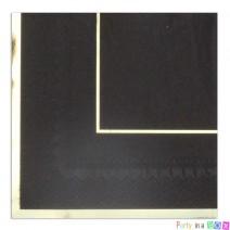 מפיות גדולות קלאסיק שחור זהב