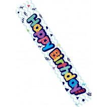 כרזת Happy Birthday צבעונית