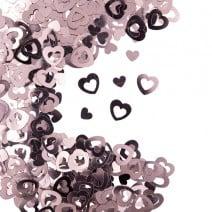 קונפטי לב חלול - רוז גולד