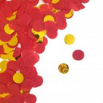 קונפטי נייר אדום זהב