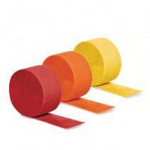 סט גלילי קרפ אדום כתום וצהוב
