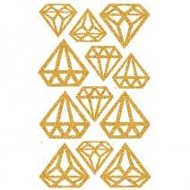 סט מדבקות יהלום זהב