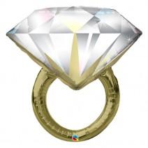 בלון מיילר טבעת יהלום זהב