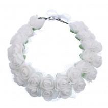 זר פרחים כפול - לבן