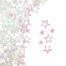 קונפטי כוכב ססגוני לבן