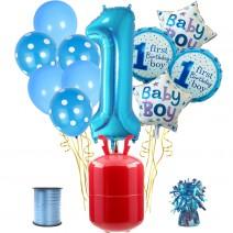 חבילת הליום גיל שנה כחול