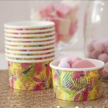כוסות ממתקים עלים טרופיים