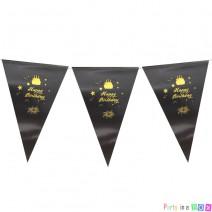 שרשרת דגלים יומולדת שחור זהב