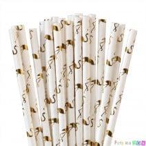קשיות נייר פלמינגו זהובים