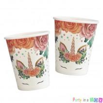 כוסות חד קרן פרחים