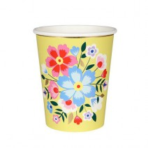 כוסות בוהו פרחוני צהוב