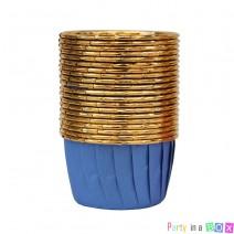 גביעי קאפקייקס כחול זהב