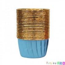 גביעי קאפקייקס תכלת זהב