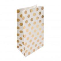 שקיות נייר נקודות זהב