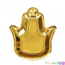 צלחות נייר חמסה זהב