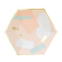 צלחות קטנות פסטל גיאומטרי