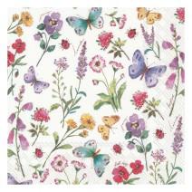 מפיות גדולות פרחים ופרפרים