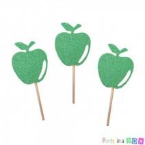 טופרים תפוחים גליטר ירוק