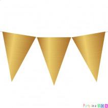 שרשרת דגלים זהב כרום