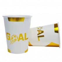 כוסות כדורגל לבן זהב