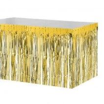 חצאית שולחן פרנזים זהב