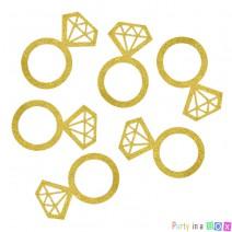 קונפטי גדול טבעות יהלום זהב