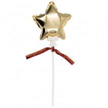 בלון מיני על מקל כוכב זהב