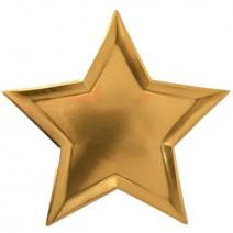צלחות כוכבים זהב