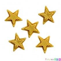 קישוט מבצק סוכר כוכבים זהובים