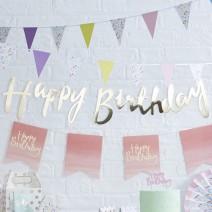 שרשרת Happy Birthday - זהב