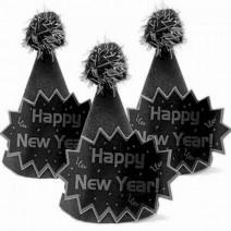 מיני כובעים New Year - כסף