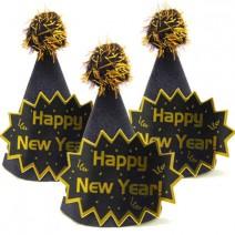מיני כובעים New Year - שחור