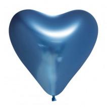 בלוני לב כרום כחול
